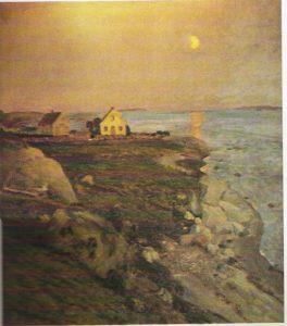 Losshusene Sandø malt 1894 av Eilif Peterssen